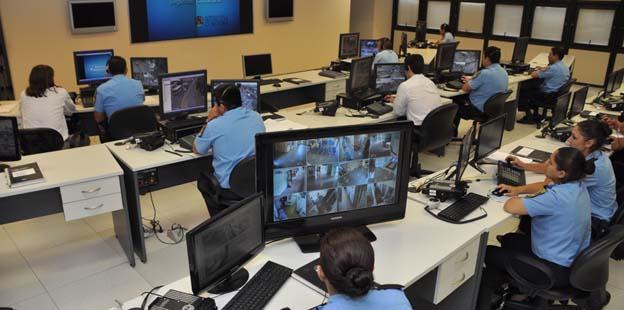 Imágen del Centro de Control Operativo de Seguridad