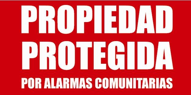 ALARMAS (cartel)