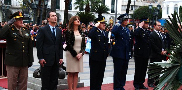 Alicia Pregno asistió a la ceremonia de conmemoracion del fallecimiento de José de San Martín