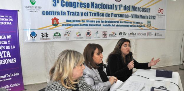 Chiofalo - Congreso Nacional contra la Trata y el Tráfico de personas (Villa María)1