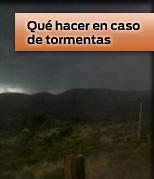 Qué hacer en caso de tormentas
