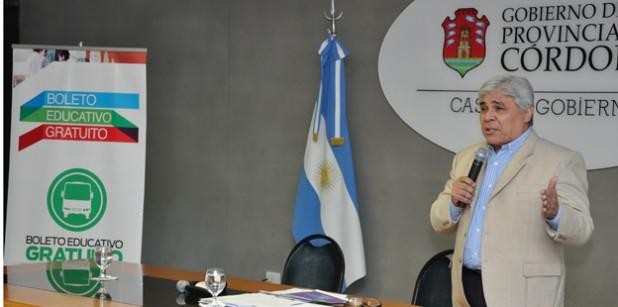 Heredia presentó el Boleto Educativo Gratuito 2013.