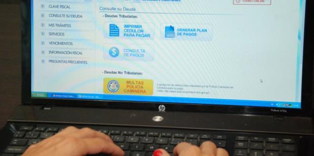 Rentas habilitó pago vía web de impuestos, tasas y multas