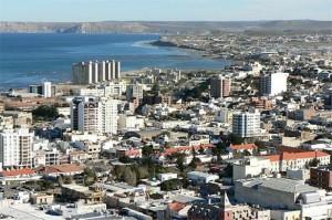 Vista aérea de Comodoro Rivadavia, provincia de Chubut.