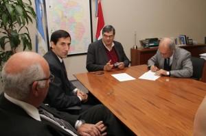 Las autoridades de Fiscalía de Estado y el CPCE suscribieron el acuerdo.