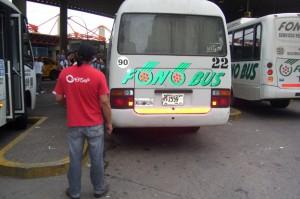 Control a unidades de transporte. (archivo)