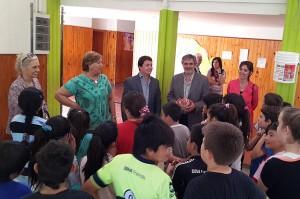 El titular de la cartera educativa provincial aprovechó su arribo a la localidad del departamento San Justo para visitar la escuela primaria.