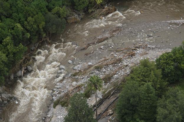 Por lluvias intensas hay vados y rutas cortadas en la provincia