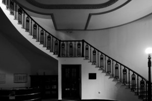 """Interior del edificio conocido antiguamente como """"El Panal"""", inaugurado a fines del XIX."""