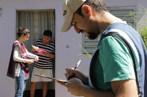 Las brigadas del Ministerio de Salud visitarán 600 viviendas a lo largo del relevamiento.