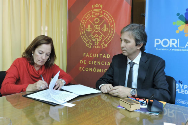 Equidad y Empleo firmó convenio con Ciencias Económicas de la UNC