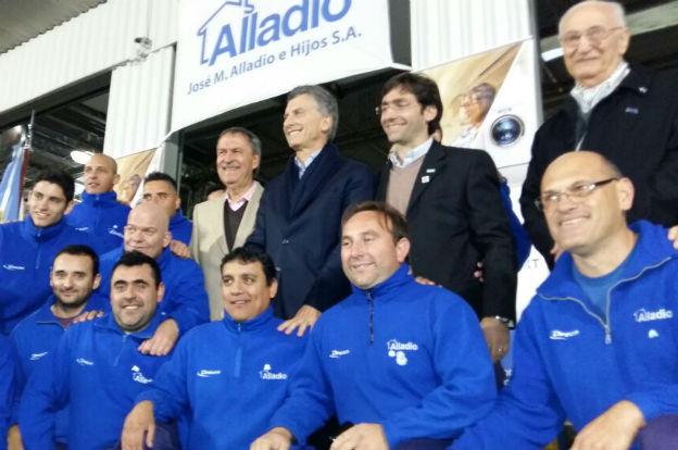Schiaretti y Macri, en el anuncio de inversión de Alladio