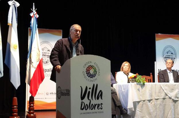 Schiaretti anunció importantes obras e inversiones en Villa Dolores