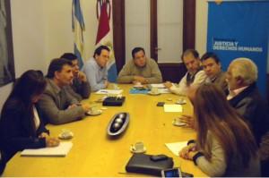 Raúl Sánchez, Secretario de Derechos Humanos de Córdoba reunido con autoridades nacionales.