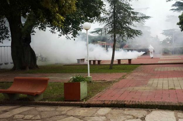 Fumigaron las localidades de El Tío y Pozo del Molle