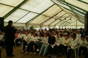 Justicia y Derechos Humanos- Senaf con alumnos en Viamonte Expo Granja