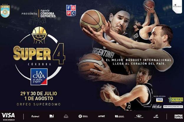 Córdoba se prepara para recibir a la selección argentina de básquet