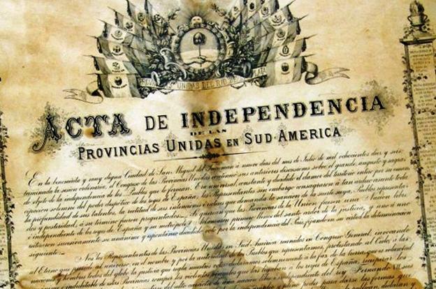 Resultado de imagen para acta independencia argentina