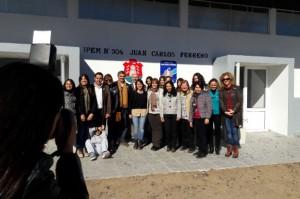 Grahovac inauguró tres nuevas aulas para el Ipem 304 de Colonia Almada.