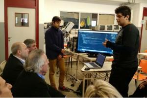 Alumnos de ProA explicaron procesos de programación.