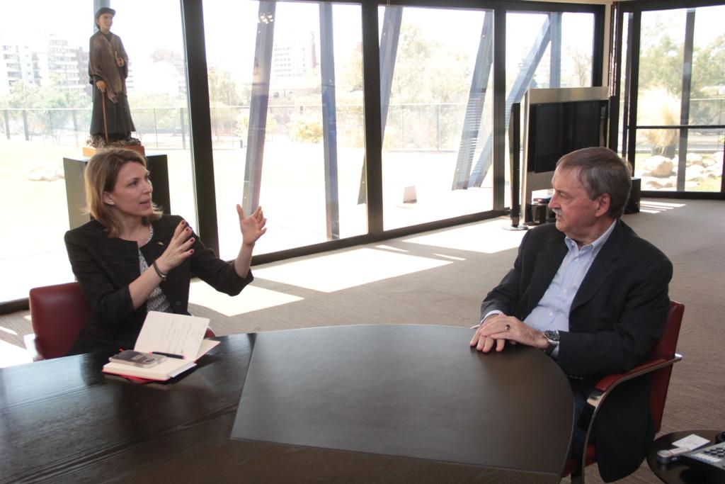 Schiaretti recibió a la presidenta de Aerolíneas Argentinas