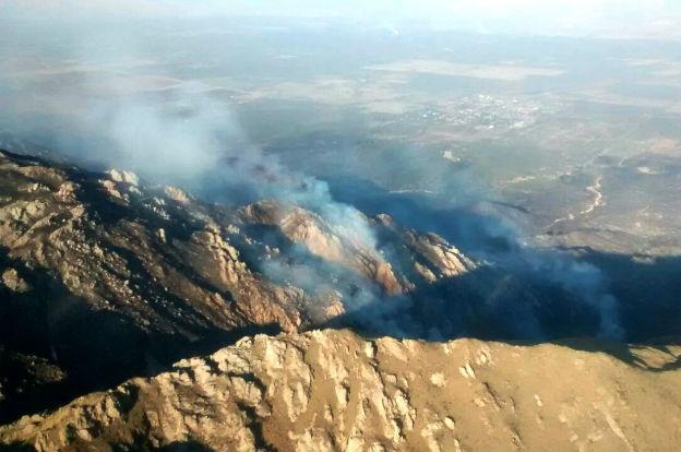 Desde hoy y hasta el jueves, el riesgo de incendio forestal es muy alto