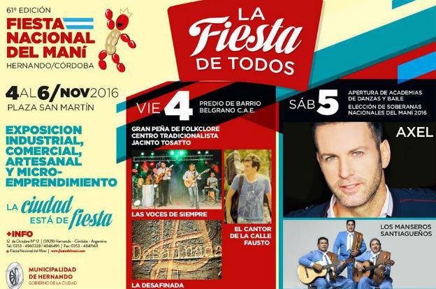 Se viene la  61º Fiesta Nacional del Maní