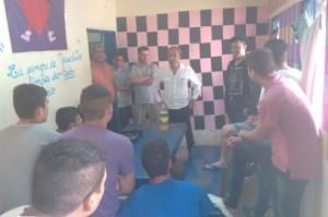 Jean Carlos con los jóvenes