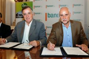 Daniel Tillard, Presidente de Bancor y Julio Bañuelos, Titular de la Agencia Córdoba Turismo.