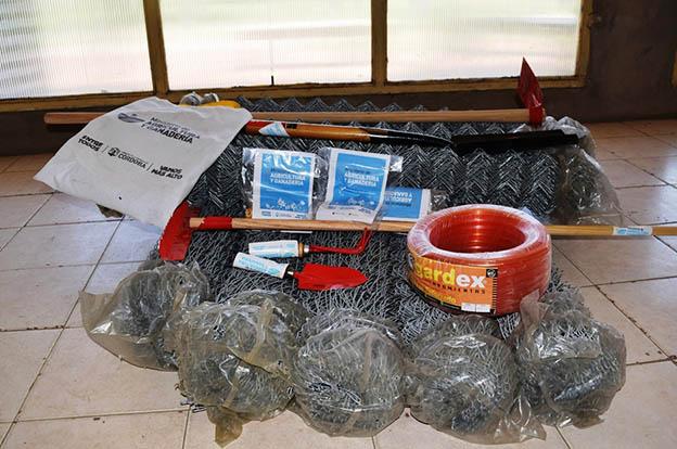 Guatimozín: Córdoba Mi Granja entregó materiales para huerta