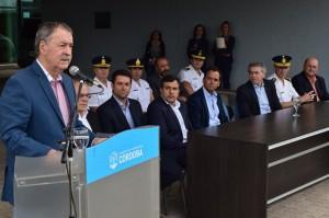 El gobernador Juan Schiaretti esta tarde, en la Capital Alterna.