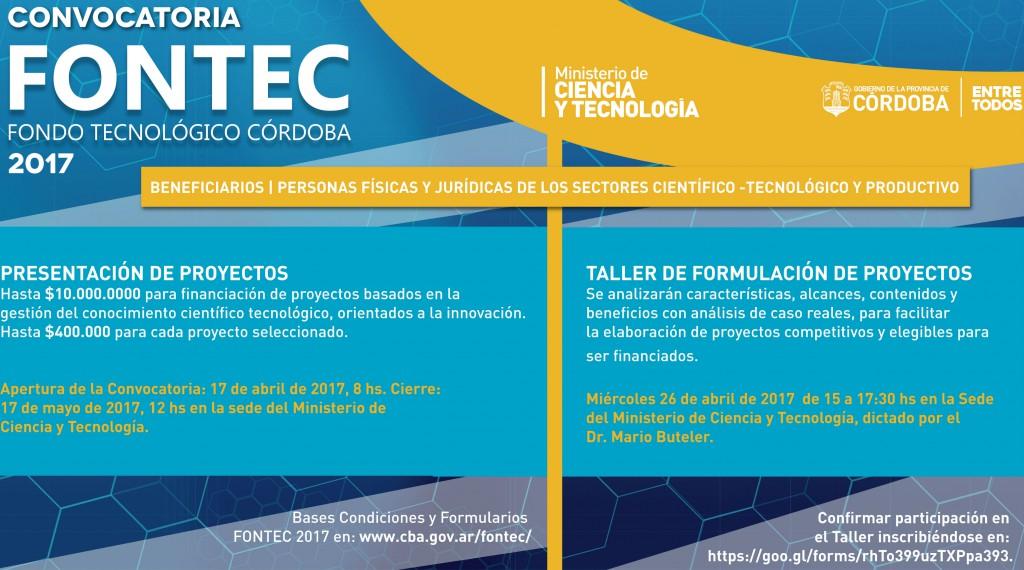 FONTEC CONVOCATORIAS informacion 2