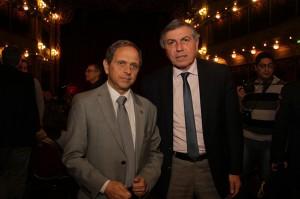 El presidente de Daia Córdoba, Luis Klinger, acompañado por el ministro Juan Carlos Massei.
