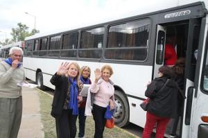 Hoy, diez centros de jubilados de Capital partieron a la Colonia de Vacaciones de Sta María de Punilla