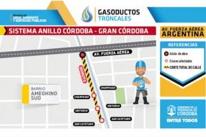 Desvío de tránsito por obras de gasoducto web