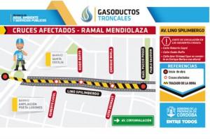 Desvío de tránsito por obras de gasoducto zona norte web