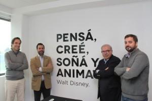 El equipo de la Agencia. De derecha a izquierda: José Martínez Ponce, director Ejecutivo; Luciano Crisafulli, director de Emprendedurismo; Mario Cuneo, presidente; Nicolás Piloni, director de Innovación.