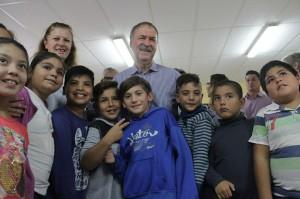Esta tarde, el  gobernador Schiaretti visitó la comuna La Quinta.