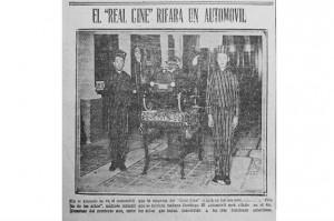 El Real Cine Theatre promociona la venta de entradas en 1927