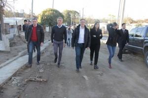 El Vicegobernador recorrió las obras en barrio Colinas, Villa Carlos Paz.