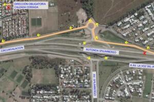 Desvío avenida Circunvalación Spilimbergo-Cardeñosa