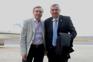 Ministro Massei recibe al gobernador de Jujuy, Gerardo Morales.