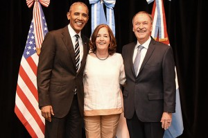 Barack Obama Junto a Alejandra Vigo y el Gobernador Schiaretti