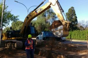 Trabajos en el Nexo Cloacal de Villa El Libertador
