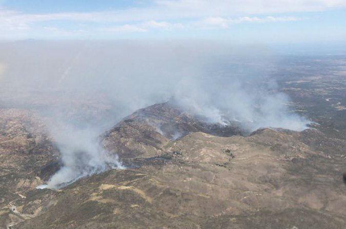 Paraje El Rincón Incendio martes 17 de octubre.