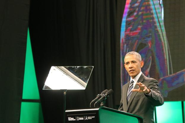 Barack Obama disertó en  Córdoba