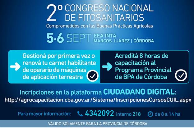 Se viene el 2° Congreso Nacional de Fitosanitarios