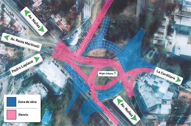 Circunvalación  implementarán desvíos en la rotonda de Mujer Urbana b7e4a9a99f3