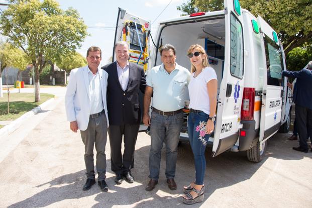 Salud: aportes y una ambulancia para el departamento Río Segundo