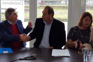 Massei fue recibido por el intendente Pedro Dellarosa